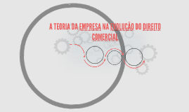 A TEORIA DA EMPRESA NA EVOLUÇÃO DO DIREITO COMERCIAL