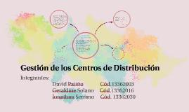 Gestión de los Centros de Distribución