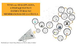 TEMA 10: HIALOPLASMA, CITOESQUELETO Y ESTRUCTURAS NO MEMBRAN