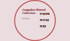 Langsdon Mineral Collection