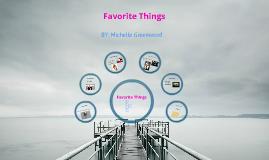 My Favroite Things