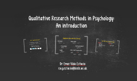 MSc Qualitative Research Methods in Psychology: