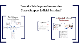 Does the Privileges or Immunities Clause Support Judicial Activism?