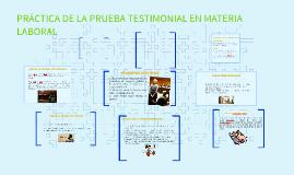 Copy of práctica de la prueba testimonial en materia laboral