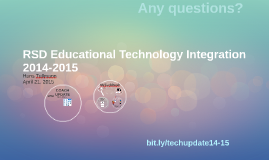 RSD Educational Technology Integration 2014-2015