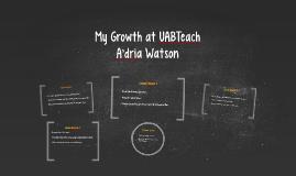 My Growth at UABTeach
