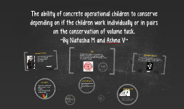 The ability of concrete operational children to conserve dep