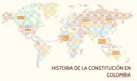 HISTORIA DE LA CONSTITUCIÓN EN COLOMBIA