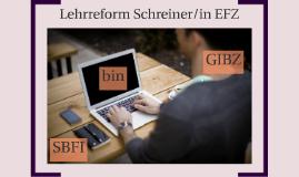 Lehrreform Schreiner/in EFZ