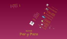 Copy of Por y Para