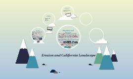 Erosion and California Landscape