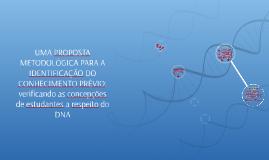 UMA PROPOSTA METODOLÓGICA PARA A IDENTIFICAÇÃO DO CONHECIMEN