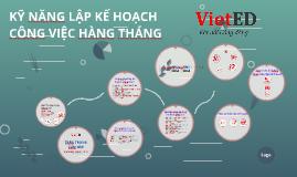 Copy of KỸ NĂNG LẬP KẾ HOẠCH CÔNG VIỆC HÀNG THÁNG