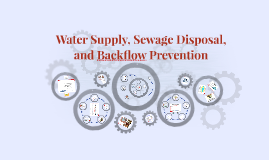 Water Supply and Sewage Disposal