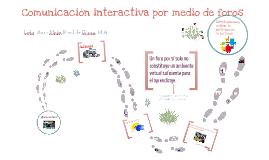 Comunicación interactiva por medio de foros