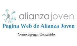 Alianza Joven WEB -Contenido