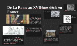 De La Rome au XVIIème siècle en France