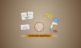 Sindicatos argentinos