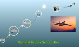 Kaimuki Middle School 4Rs