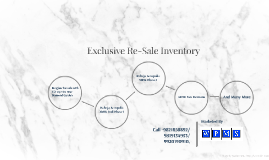 Re-Sale Inventory
