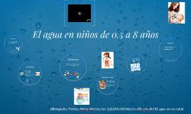 Copy of El agua en niños de 0.5 a 8 años