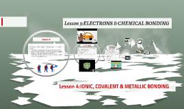 ELECTRONS & CHEMICAL BONDING