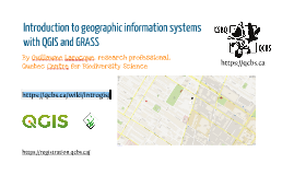 Introduction to Geographic Information Systems with QGIS