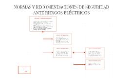 NORMAS Y RECOMENDACIONES DE SEGURIDAD ANTE RIESGOS ELÉCTRICO
