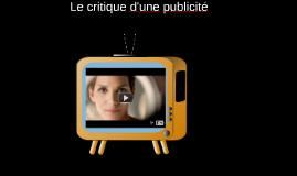 Le critique d'une publicité