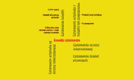 Seminarium licencjackie. Zasady cytowania