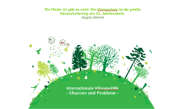 Referat Internationale Klimapolitik