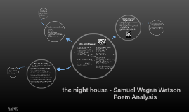the night house - poem analysis
