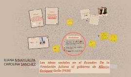 Las ideas sociales en el Ecuador: De la Revolución Juliana a