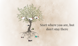 Start where you are, but dont stay there