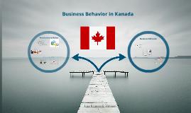 Business Behavior in Kanada
