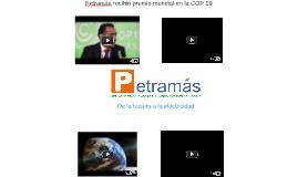 Petramás recibió premio mundial en la COP 19