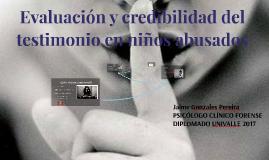 Evaluación y credibilidad del testimonio del abuso sexual en niños