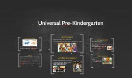 Universal PreKindergarten