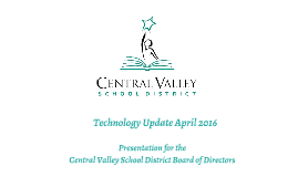 Ed Tech: April 2016 Board Meeting Update