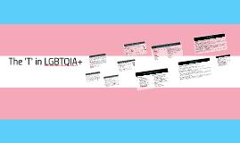 The 'T' in LGBTQIA+