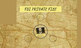 FBI PRIVATE FILE