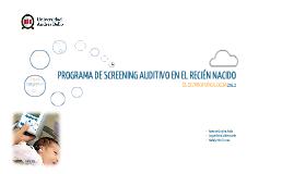 Programa de screening Auditivo en el RN