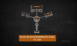 PLAN DE MANTENIMIENTO PARA EL CDA