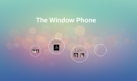 The Window Phone is a concept mobile phone that is able to t