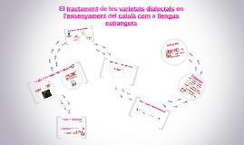 El tractament de les varietats dialectals en l'ensenyament d