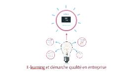 E-learning et démarche qualité en entreprise