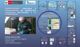 Certificación sanitaria y fitosanitaria de prod. vegetales