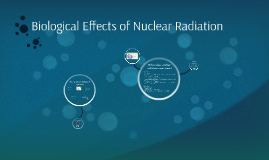 Biological Effects of Nuclear Radiation
