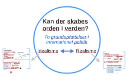 Idealisme og realisme