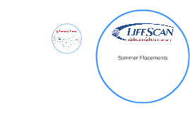 Summer Placement- LifeScan